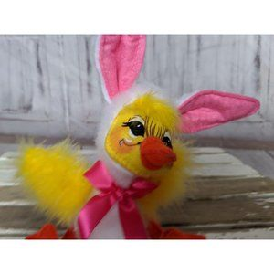 Annalee Holiday - Vintage Annalee Easter Spring Duck Bunny Ears Pink